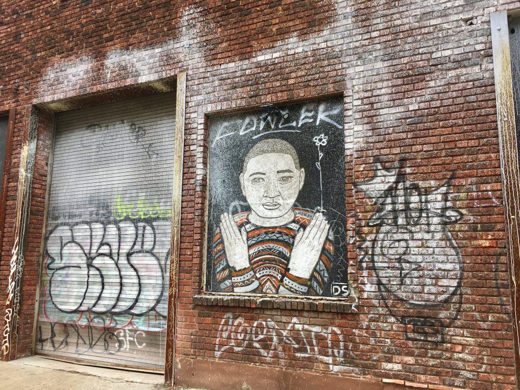 Mural outside The Phil Mechanic Artist Studios