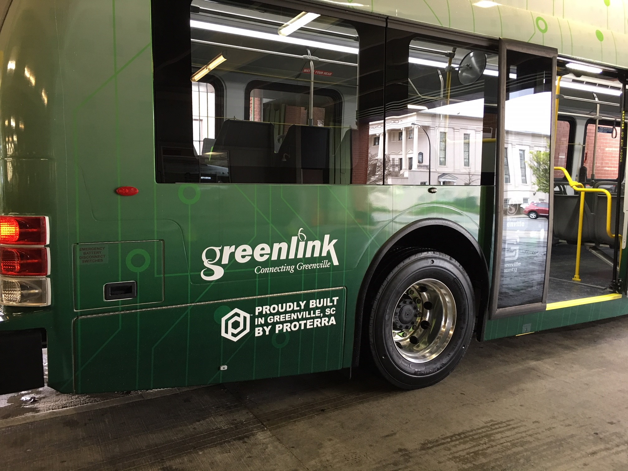 Greenville celebrates addition of first electric buses